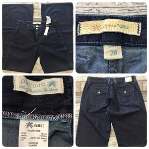 Agave nectar patrona wide leg trouser jeans 28